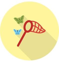 Catching butterflies vector