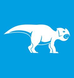 ceratopsians dinosaur icon white vector image