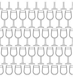 Contour glass pattern vector