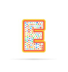 dots and letter e logo abstract logo design vector image vector image