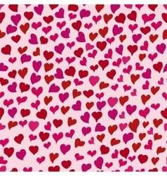 Hearts doodle pattern vector