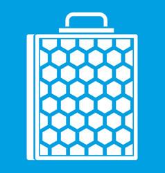 Honeycomb icon white vector