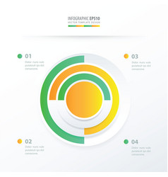 Pie chart infographics green yellow color vector