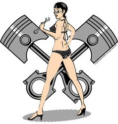 Piston girl vector