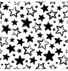 seamless pattern with black stars vector image vector image