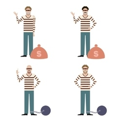 Set of Thieves vector image