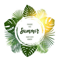 Summer tropical design for banner or flyer with vector