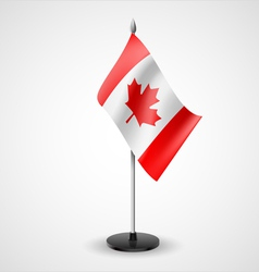 Table flag of canada vector