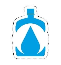Water big bottle isolated icon vector