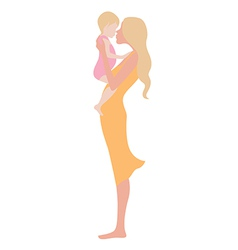 Young beautiful woman with the child vector image vector image