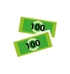 Hundred bill money vector