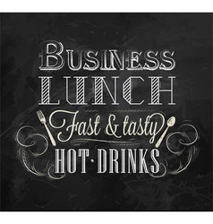 Business lunch chalk vector