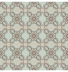 Seamless vintage wallpaper floral pattern retro vector