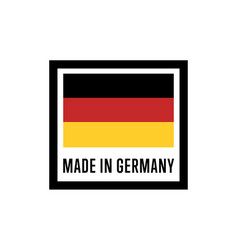 made in germany isolated label for products vector image