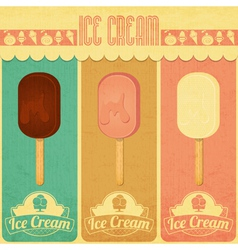 Ice cream dessert vintage menu vector
