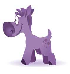 cartoon funny horse vector image