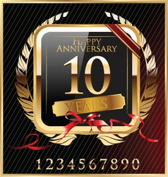 Anniversary golden label vector