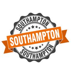 Southampton round ribbon seal vector