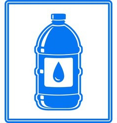 Icon with water drop and bottle vector