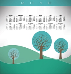 2016 creative trees landscape vector