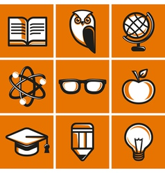 Education concepts in flat outline style vector