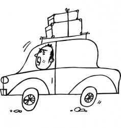car driver vector image