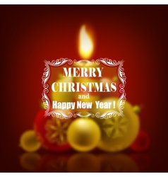 Festive christmas blurred background vector