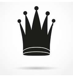 Silhouette simple symbol of classic royal queen vector