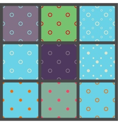 Set of seamless patterns in point with polka dots vector