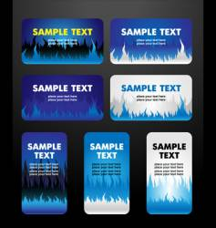 Flame business cards vector