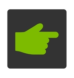 Index finger flat eco green and gray colors vector