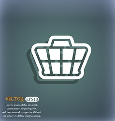 Shopping cart icon symbol on the blue-green vector