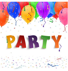 Party colorful handmade typeface vector