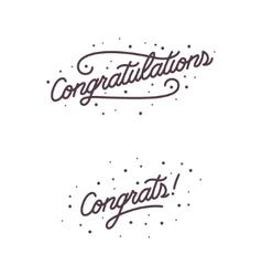 Congratulations hand lettering calligraphic vector