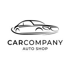 auto dealer shop template emblem creative logo vector image vector image