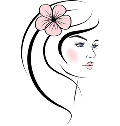 beauty woman face vector image vector image