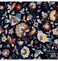 Bird and flower on a dark background vector
