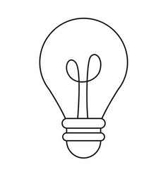 bulb light creativity innovation thin line vector image
