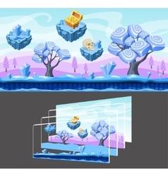 Cartoon landscape template vector