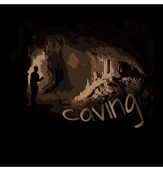 caving vector image