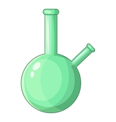 Chemical beaker icon cartoon style vector