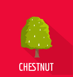 chestnut tree icon flat style vector image