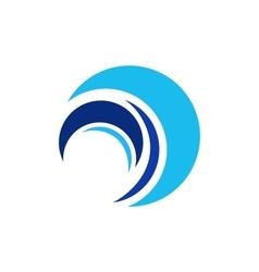 Circle wave logo sphere elements water symbol vector