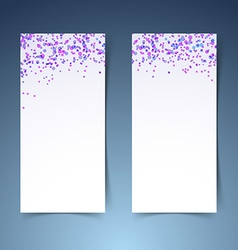 Colorful confetti poster layout collection vector image vector image
