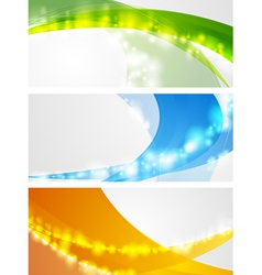 Colourful wavy banners vector image
