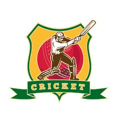 cricket sporting shield vector image