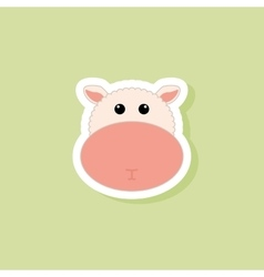 Cute sheep face vector