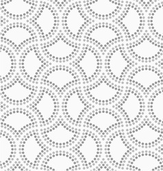Dotted cut double circle pin will vector image