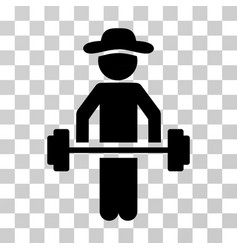 gentleman power lifting icon vector image