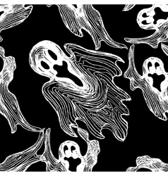ghost seamless pattern vector image vector image